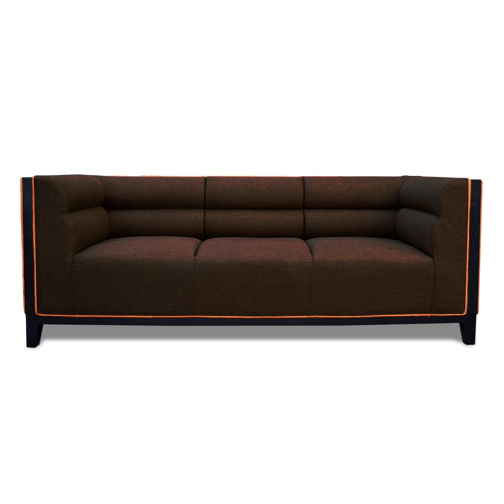 Abraxas  three Seater Sofa Drak Brown