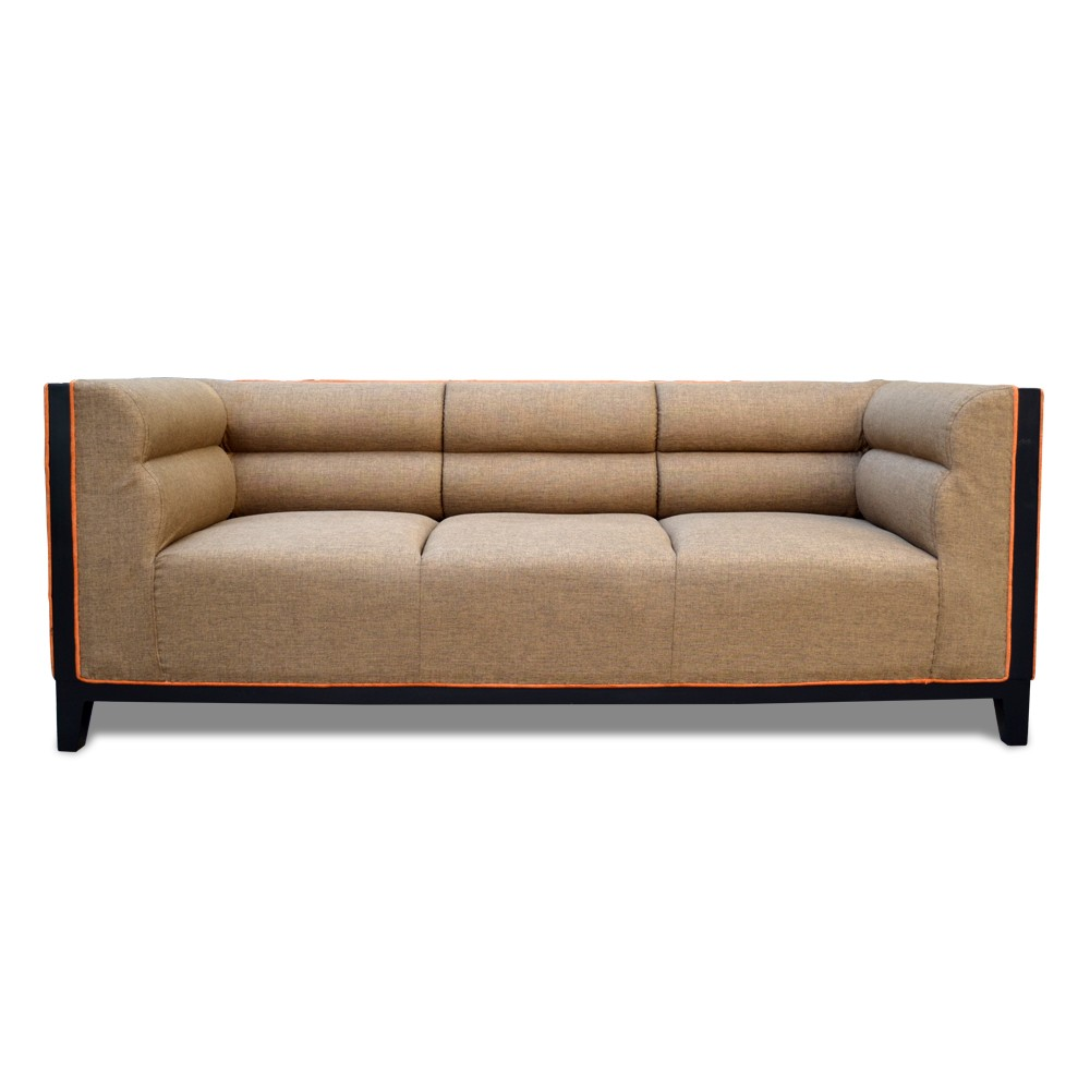 Abraxas  three Seater Sofa Badami