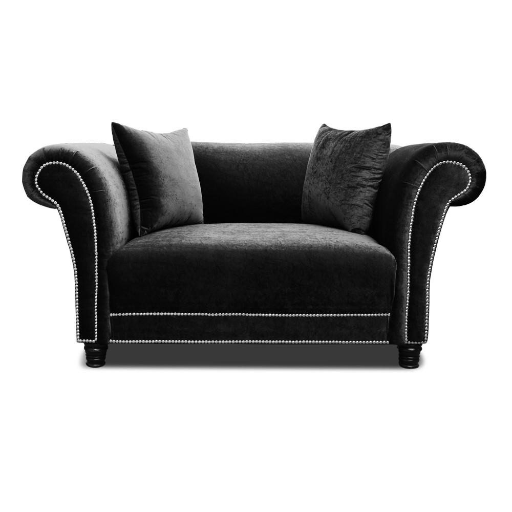Johann two seater  Sofa  Black