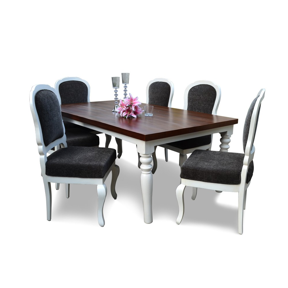 Cheeky chic 6 seater dining table set 6 seater dining for Dining table set 6 seater
