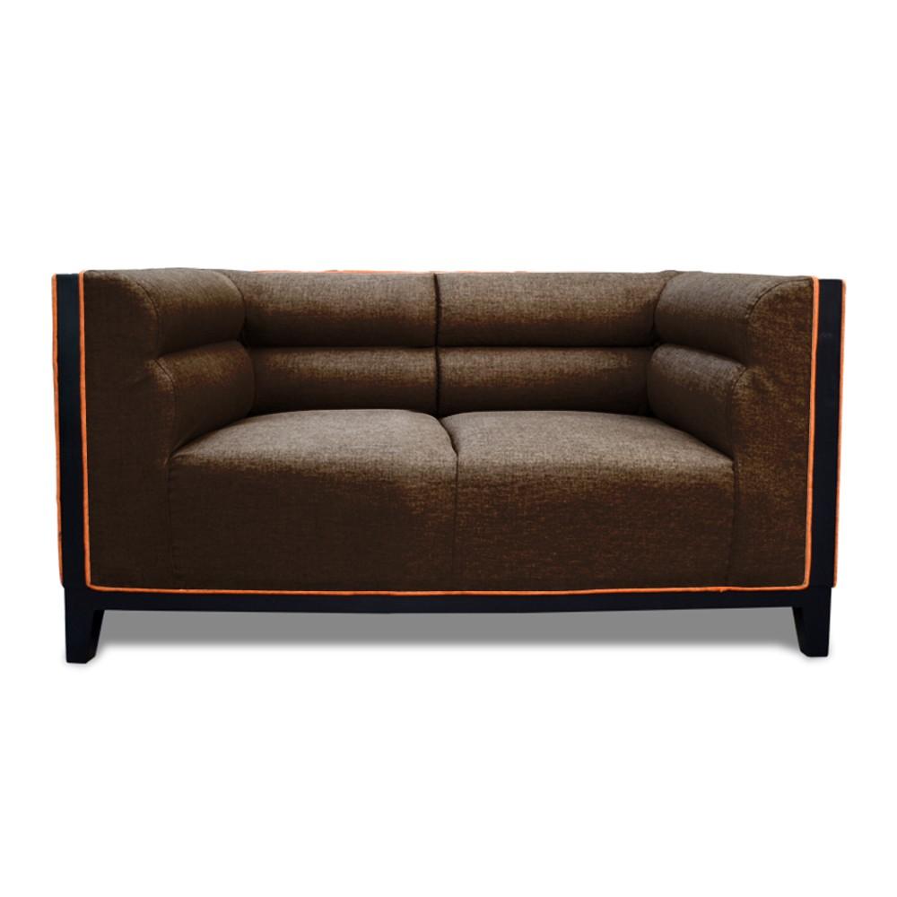 Abraxas two Seater Sofa Drak Brown