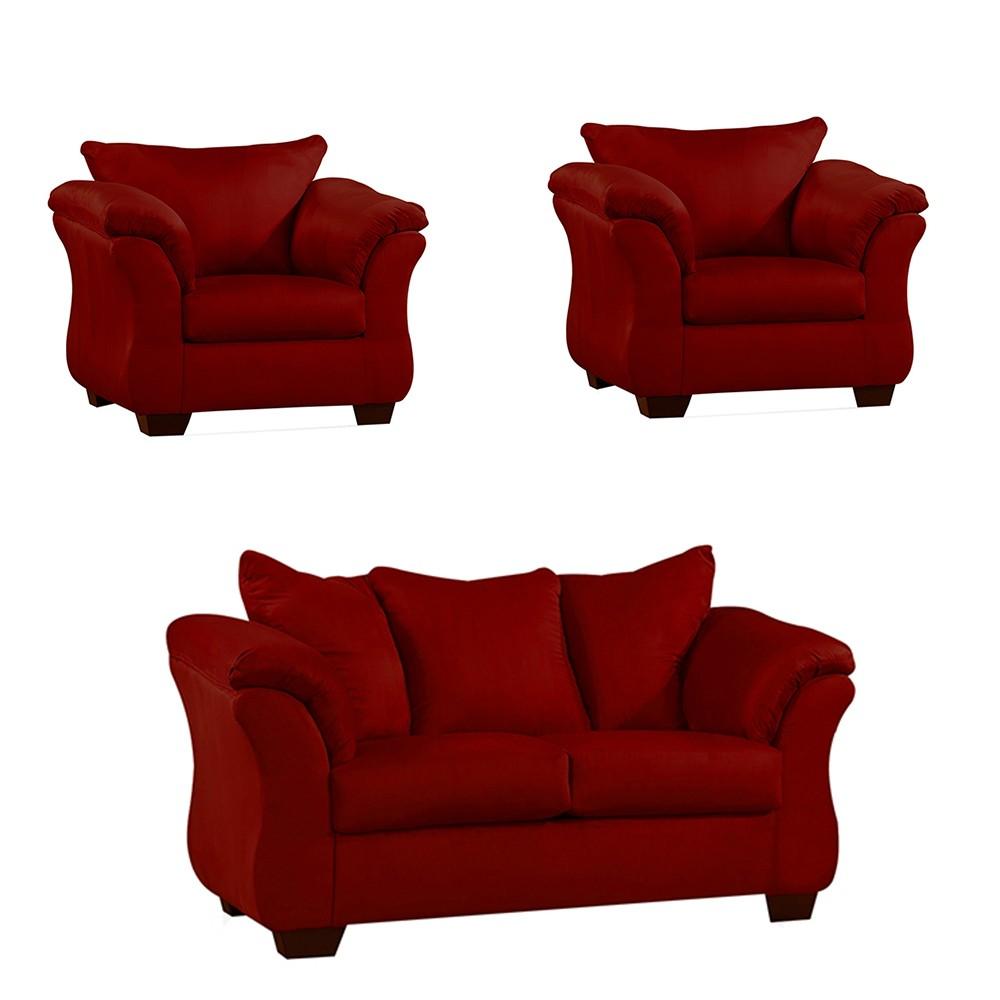 Bern Sofa Set Red5