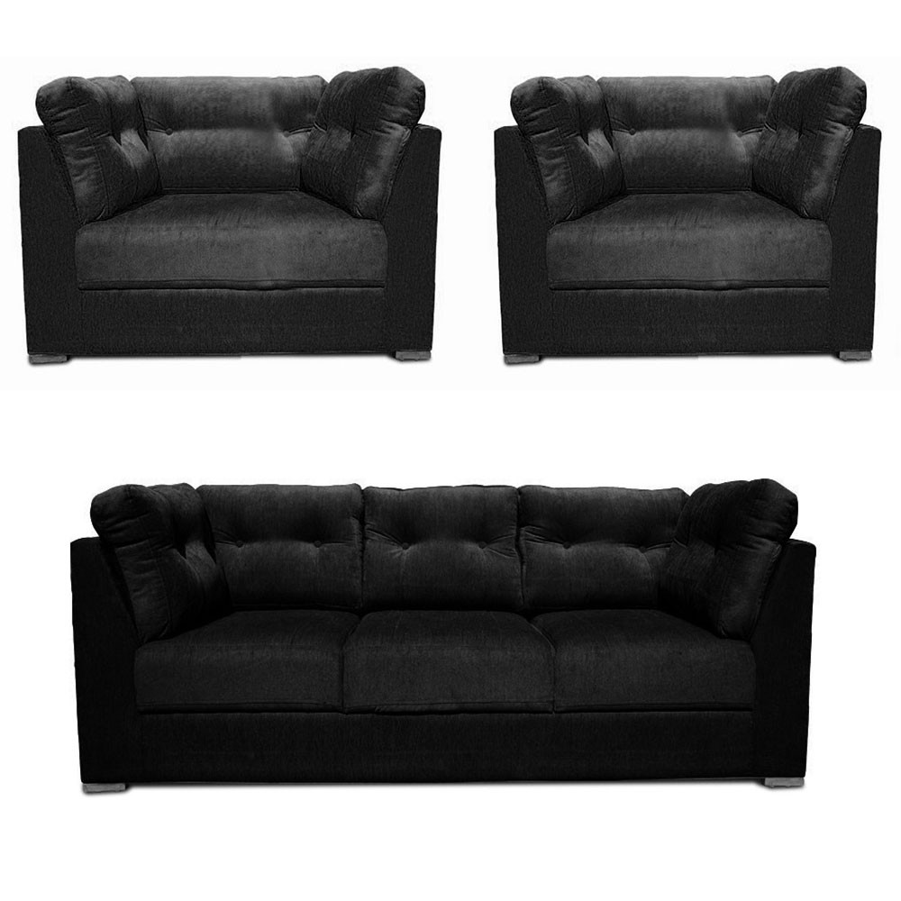 Canberra Sofa Set Black3