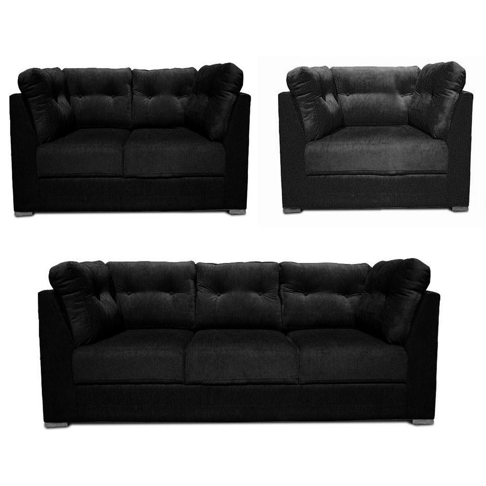 Canberra Sofa Set Black1