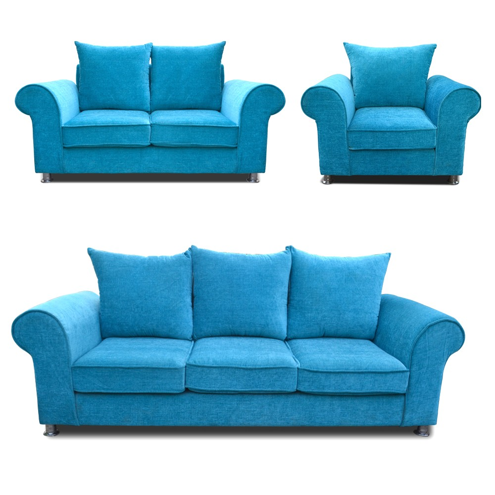 Canberra Sofa Set Sky Blue