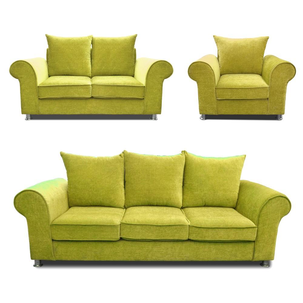Canberra Sofa Set mehandi 3+2+1