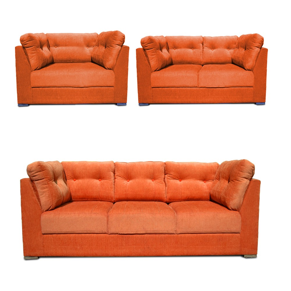 Houston  Sofa Set Orange