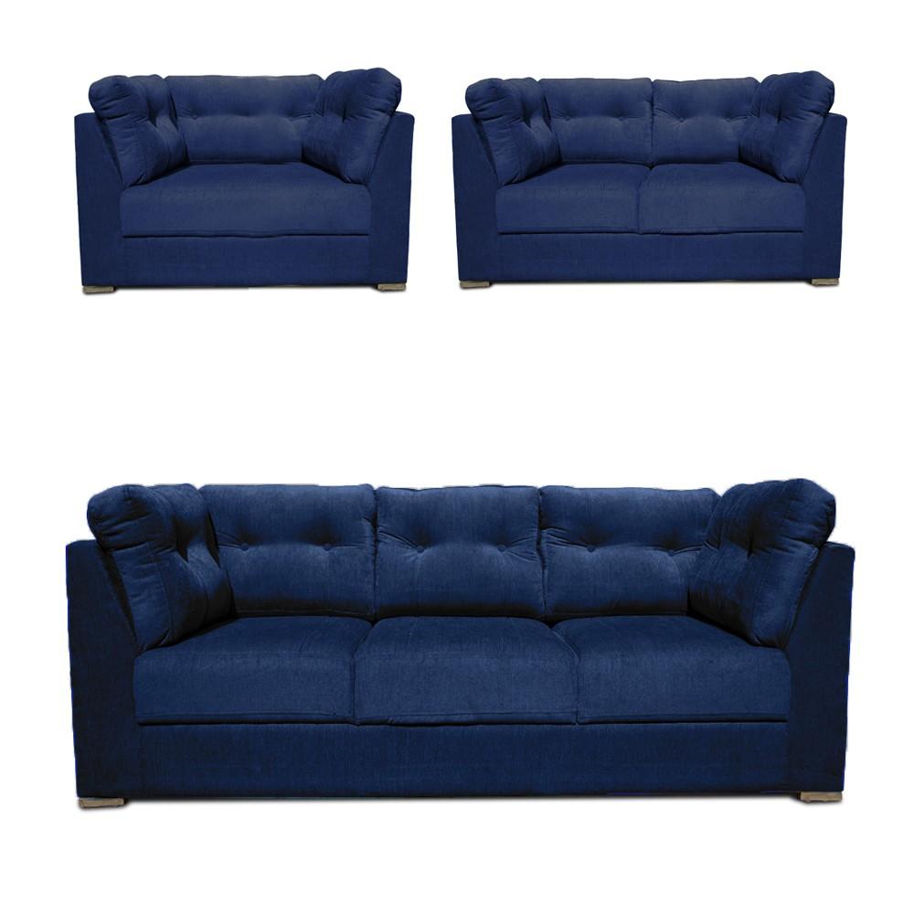 Houston Sofa Set Blue1