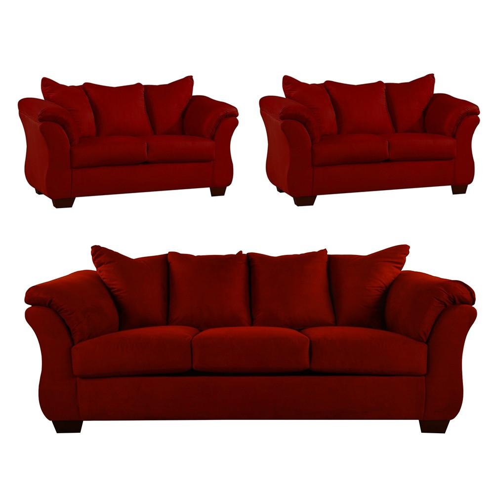 Bern Sofa Set Red4