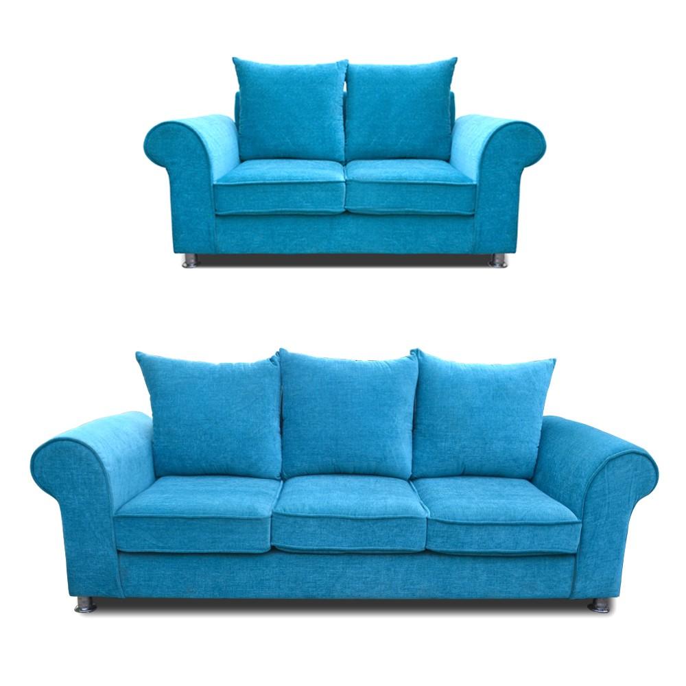 Canberra Sofa Set Teal Blue