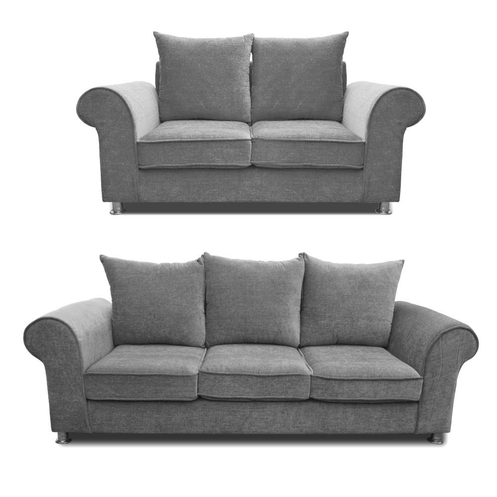 Canberra Sofa Set Light Grey 3+2