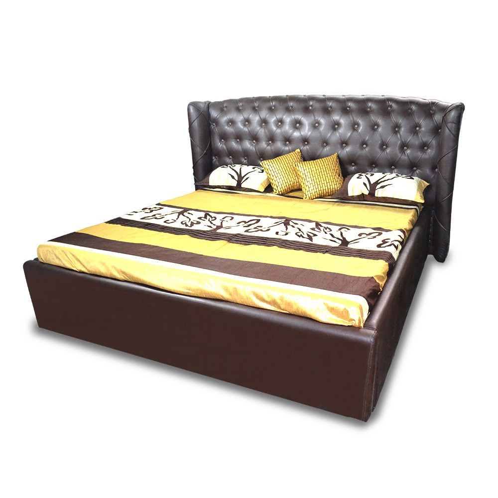 Imperial Queen Size Bed Brown