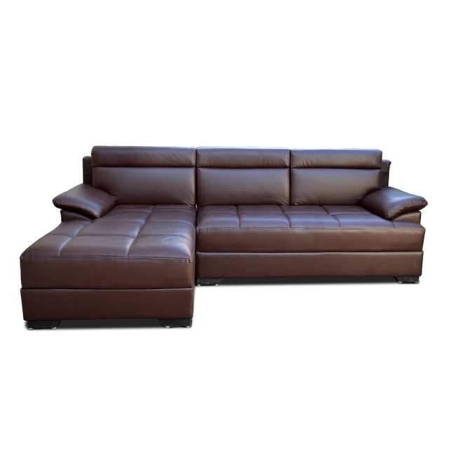 Seams to Me Three Seater Sectional Sofa with Chaise brown
