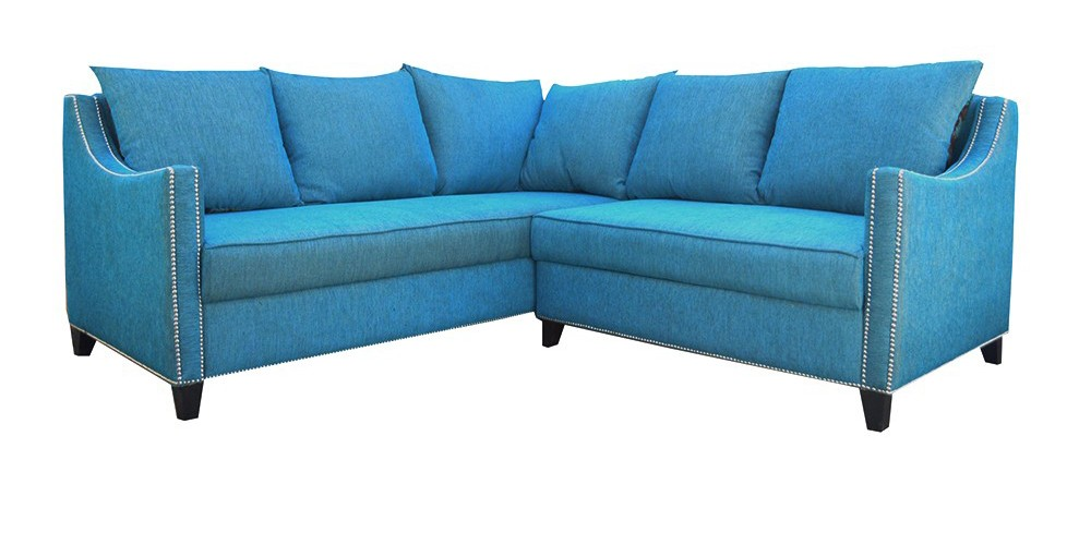 New Yorker Sectional Sofa Blue