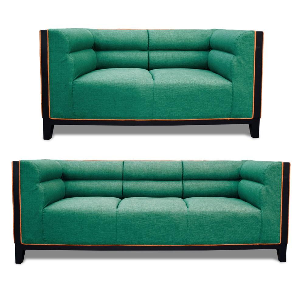 Abraxas Sofa Set green 3+2