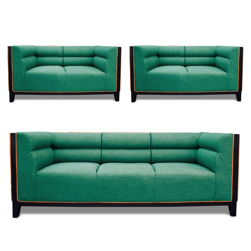 Abraxas Sofa Set green 3+2+2