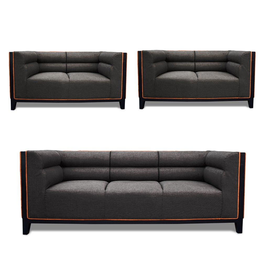Abraxas Sofa Set Drak Gray