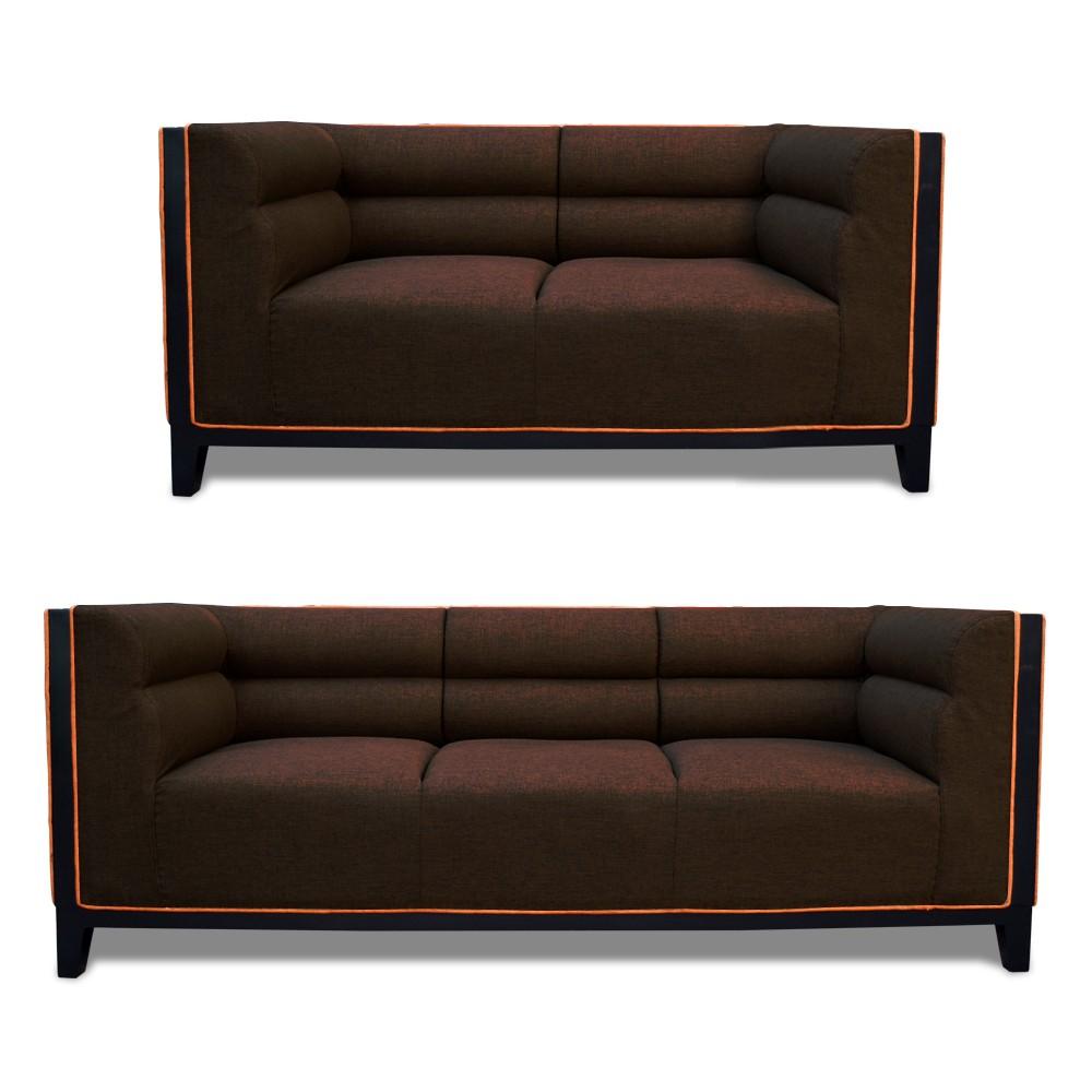 Abraxas Sofa Set Drak Brown3+2