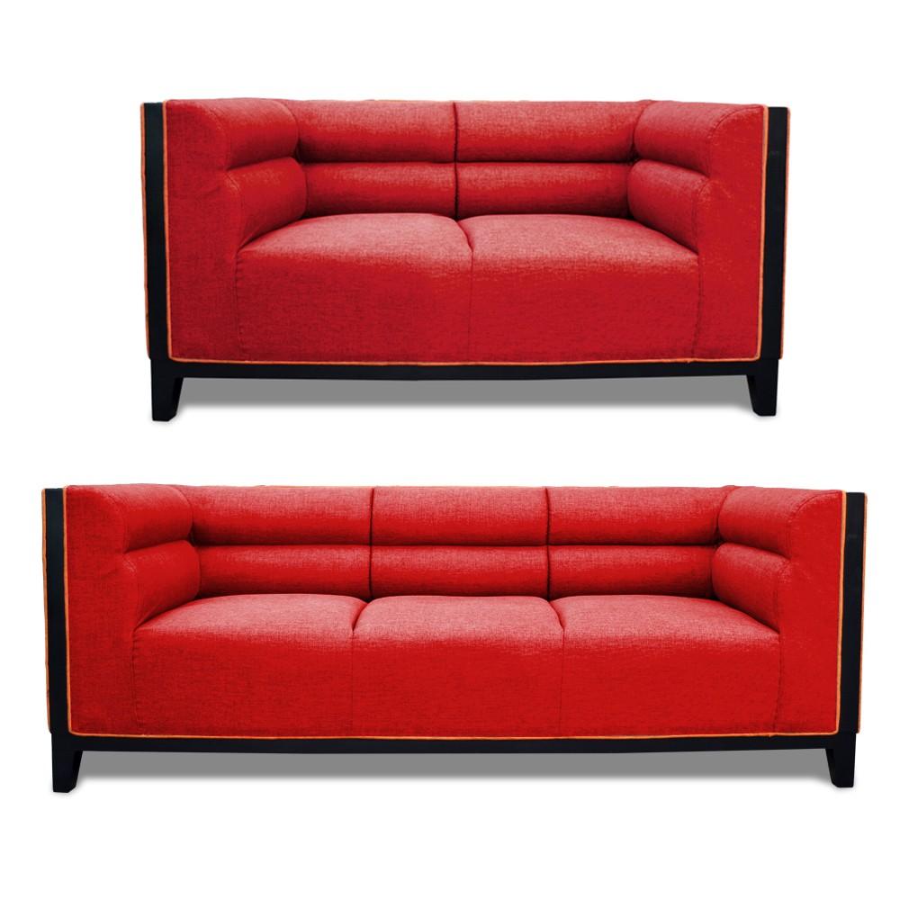 Abraxas Sofa Set Red 3+2