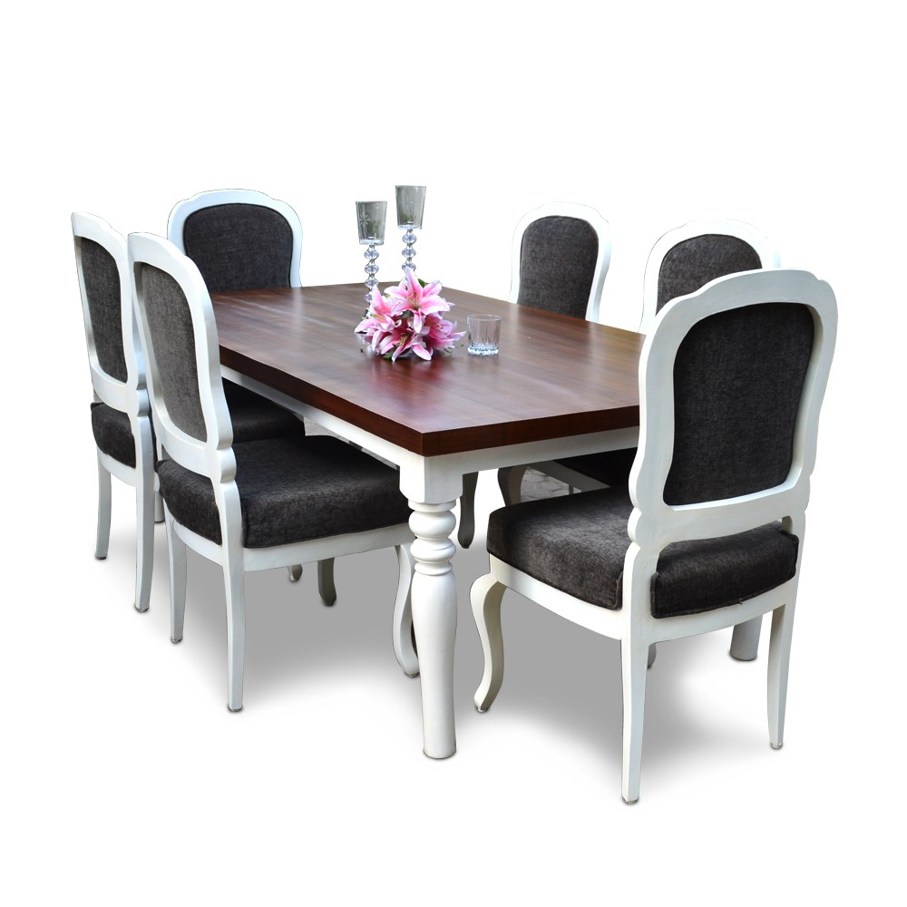 Cheeky Chic 6 Seater Dining Table Set
