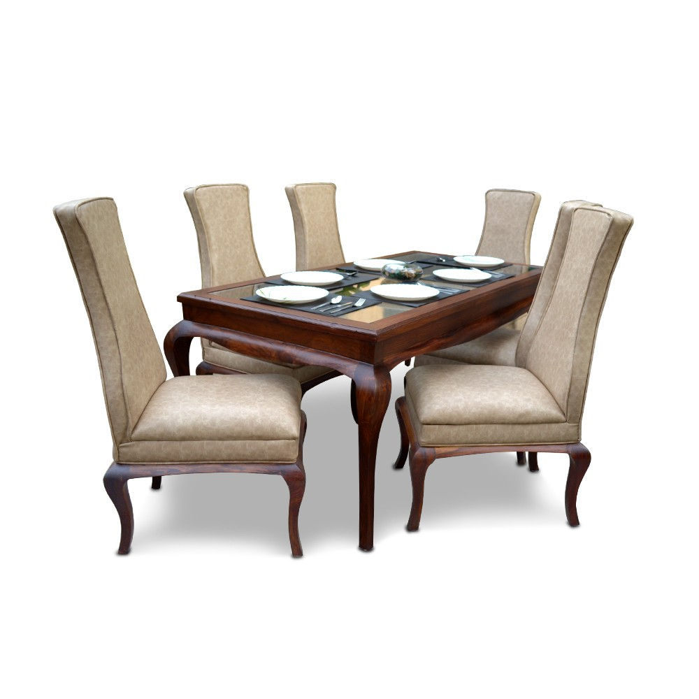 Hepworth 6 Seater Dining Table Tan