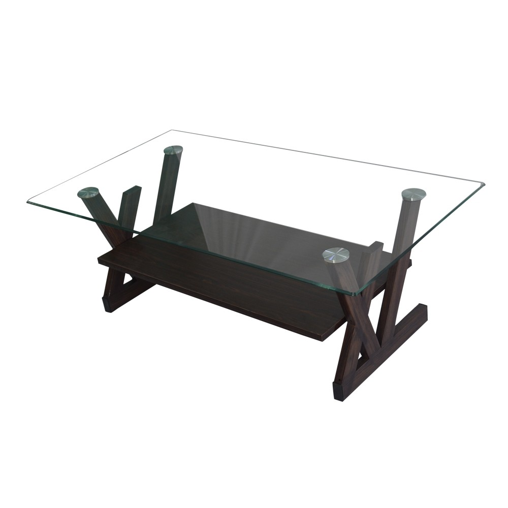 Abbey glass top coffee table