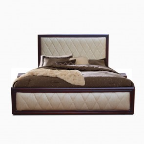 Celia Upholstered Bed with two bedside tables