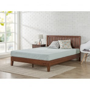 Baxton Solid Wood Platform Bed