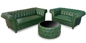 Oliver Chesterfield Sofa Set with Center Table