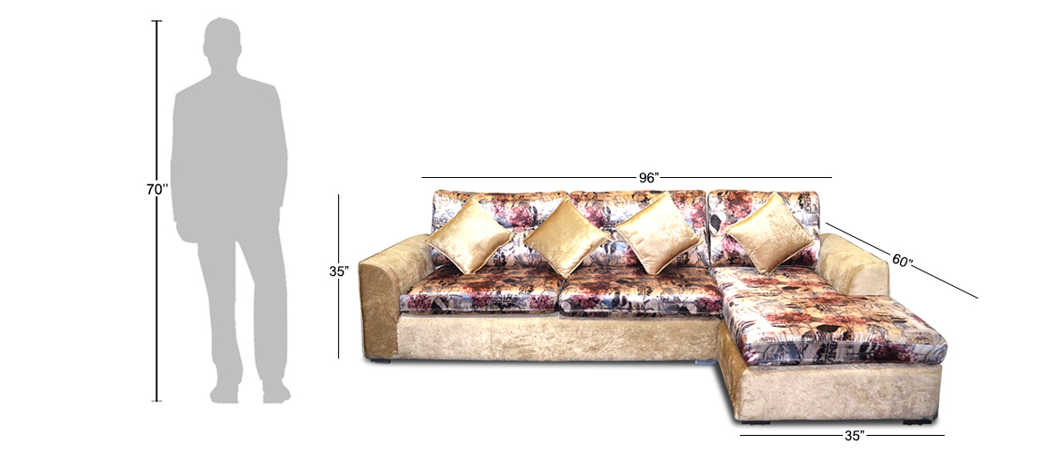 Sectional Sofa Printed