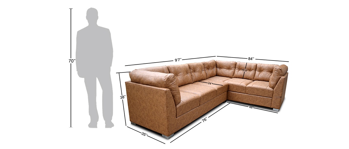 Houstaon Sectional sofa in letter