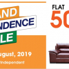 GRAND INDEPENDANCE SALE - FLAT 50% off On Living Room Furniture