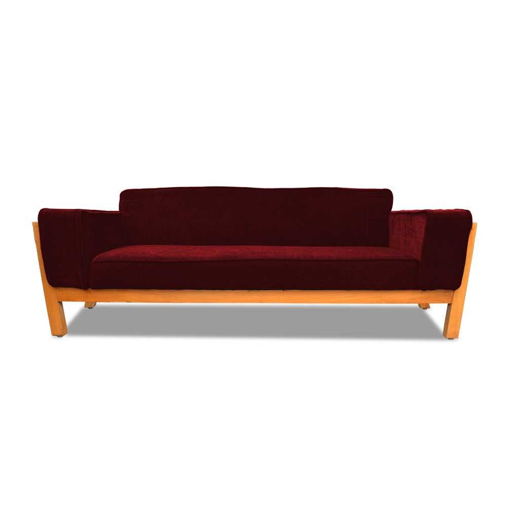 Woodard three seater sofa Red