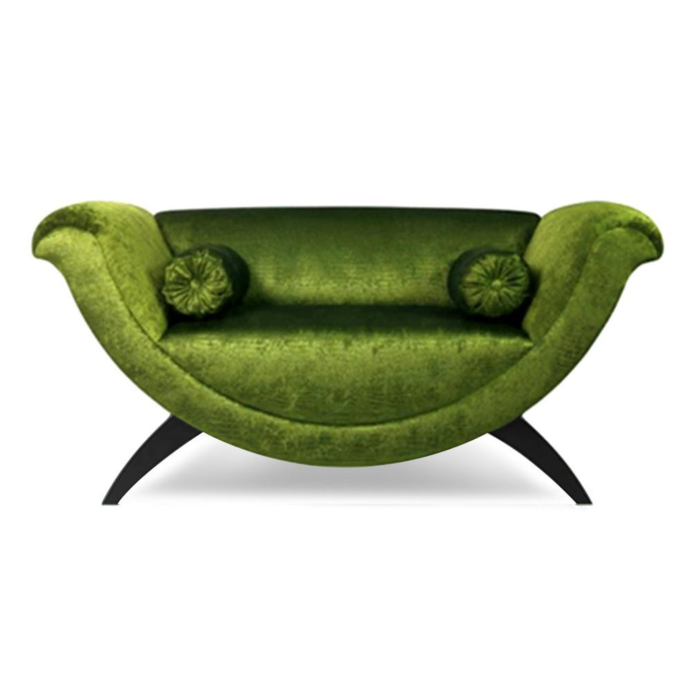 Matarazo Two Seater Sofa Fuchsia green
