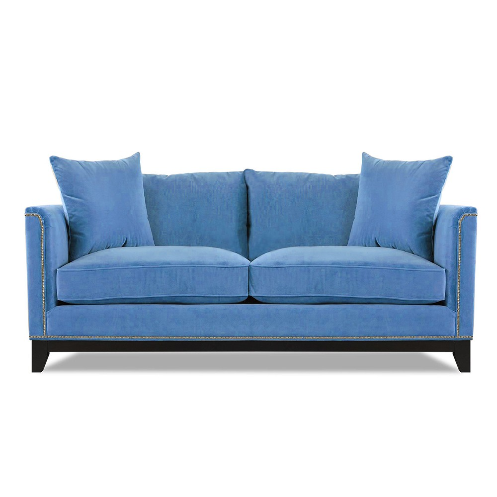 Prague  Three  Seater Sofa Blue