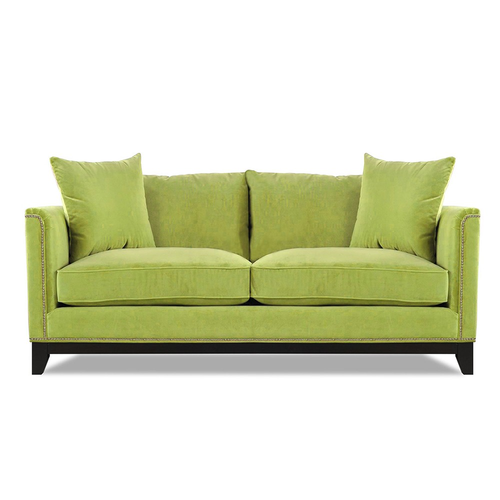 Prague  Three  Seater Sofa Green