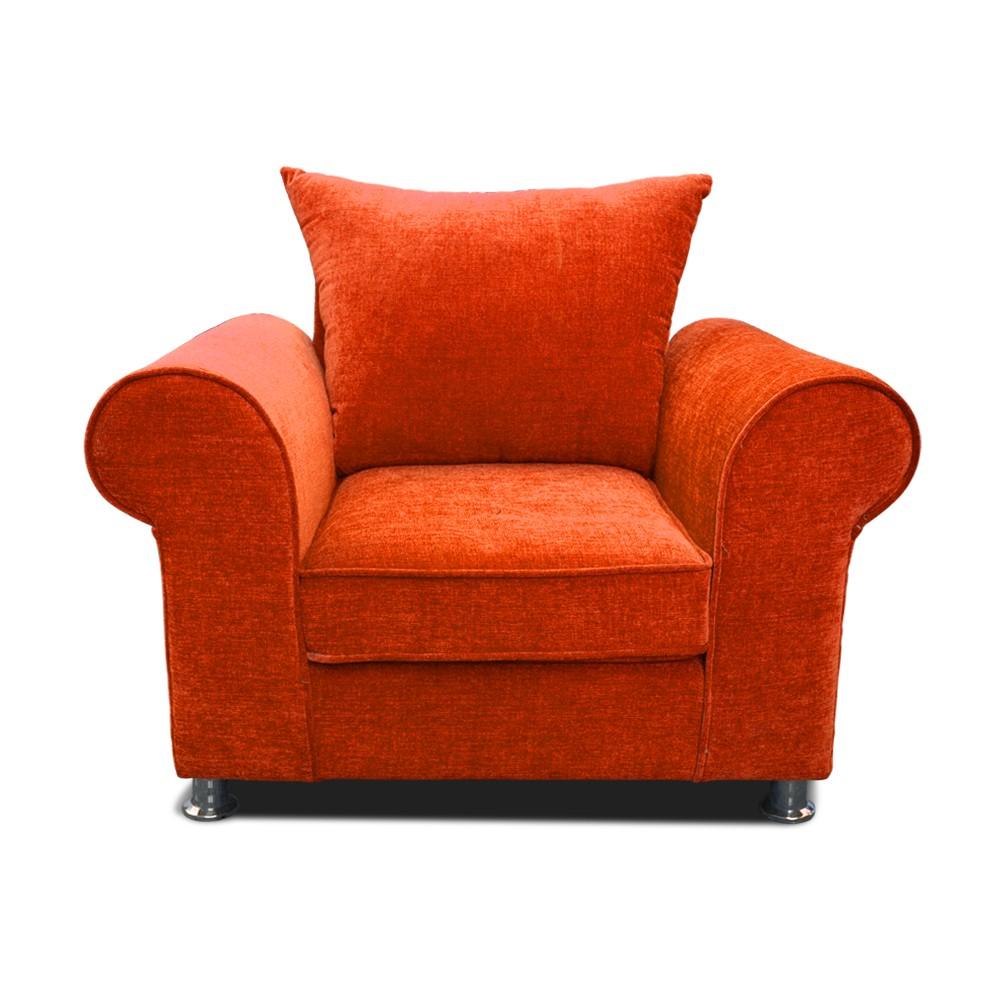 Canberra Aramchair Seater sofa Orange