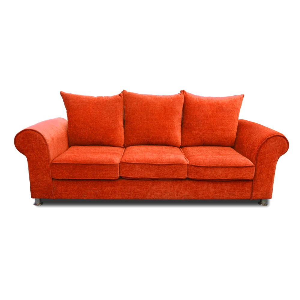 Canberra Three Seater sofa  Orange