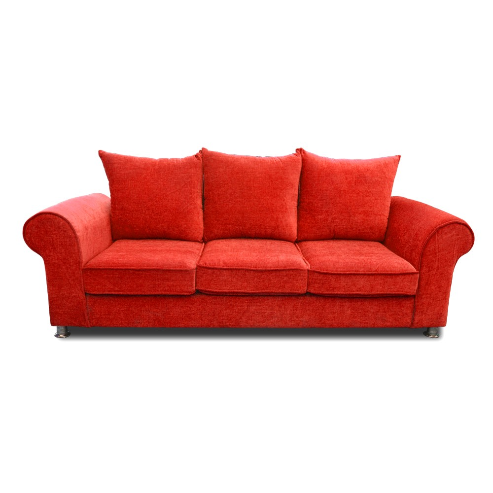 Canberra Three Seater sofa Red