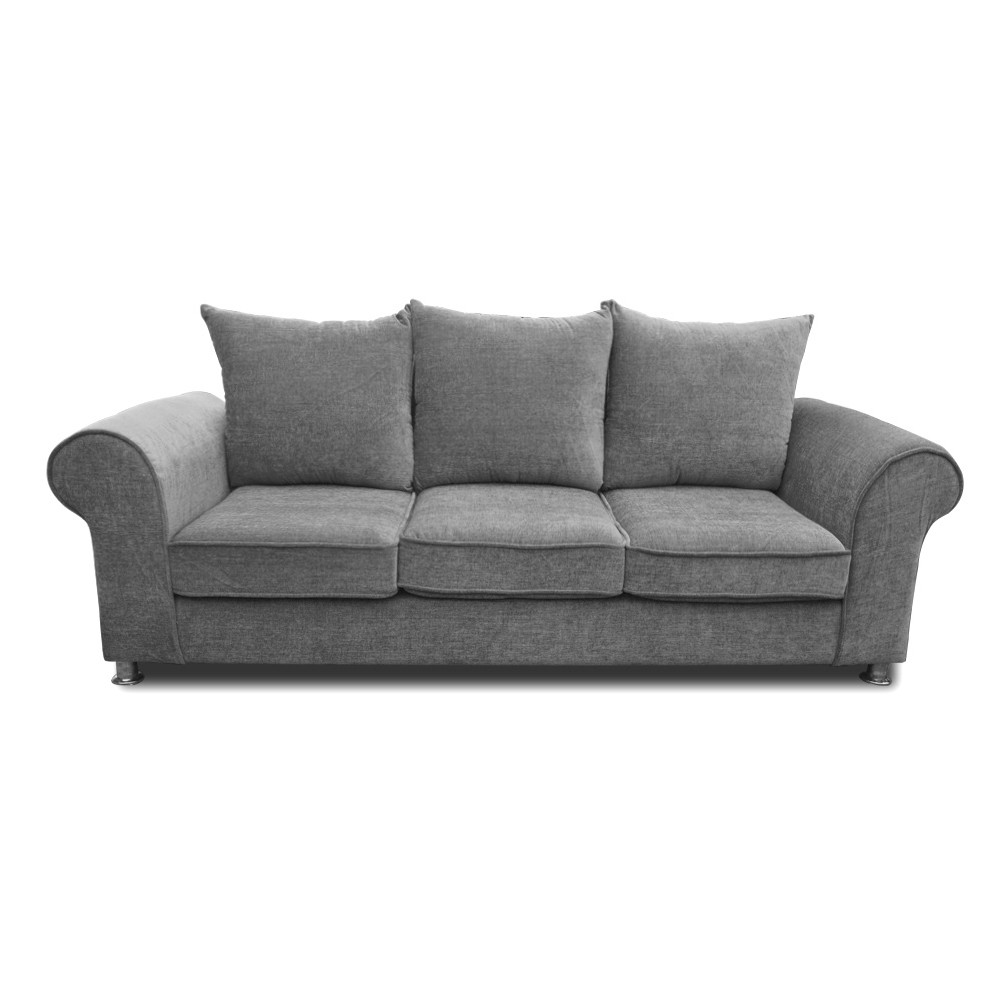 Canberra Three Seater sofa Light gray