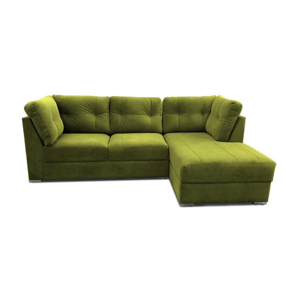 Houston Two Seater Sofa with Chaise Green