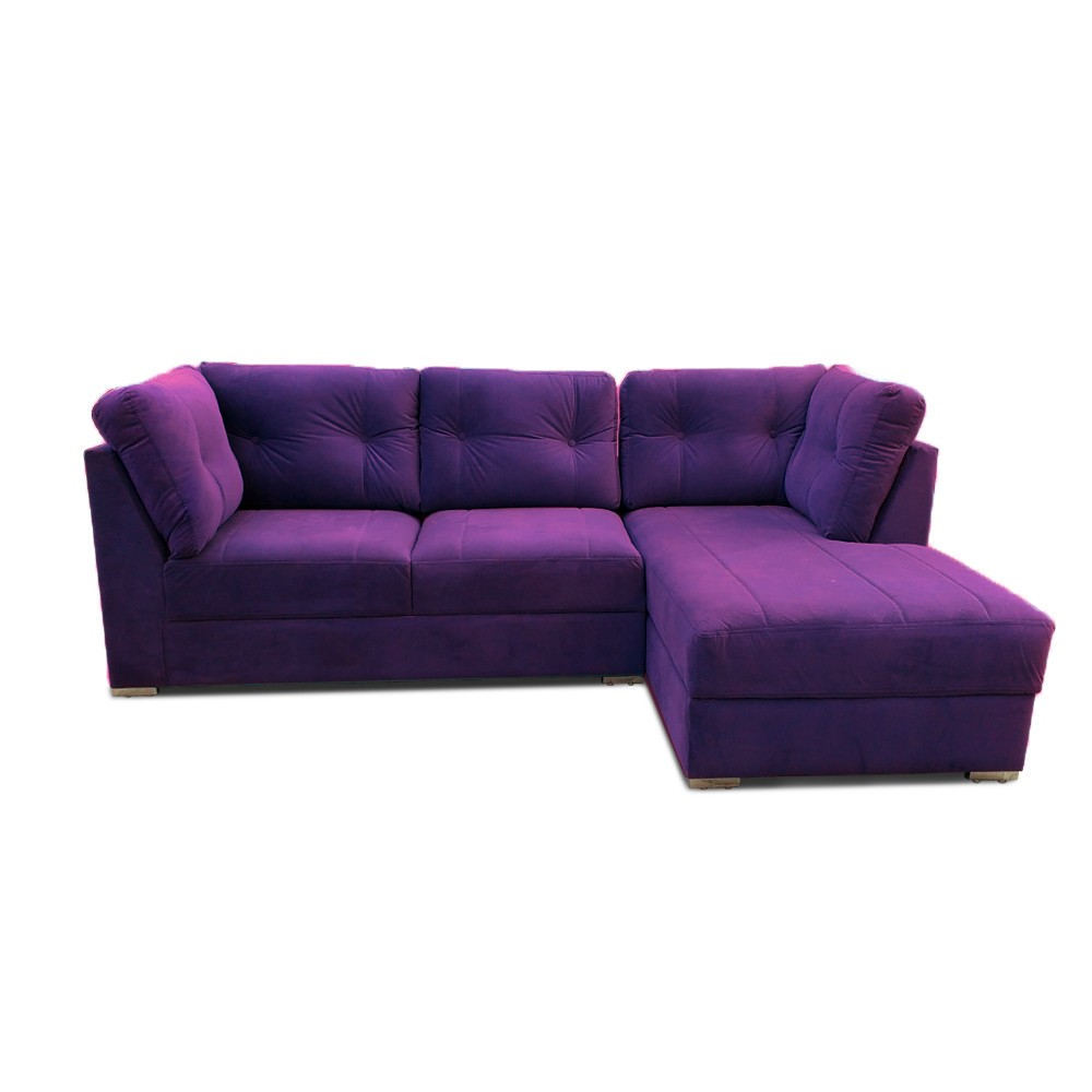 Houston Two Seater Sofa with Chaise Purpal