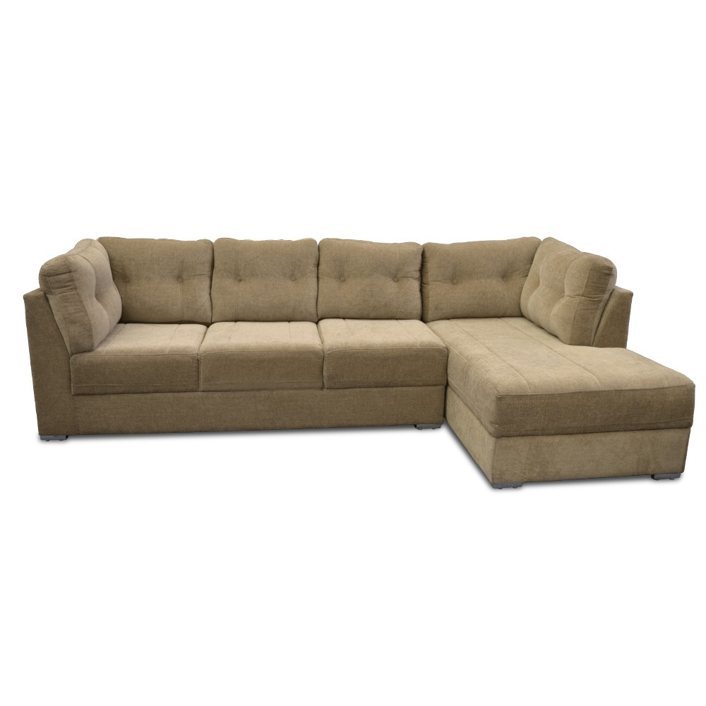 Houston Three Seater Sofa with Chaise fawn