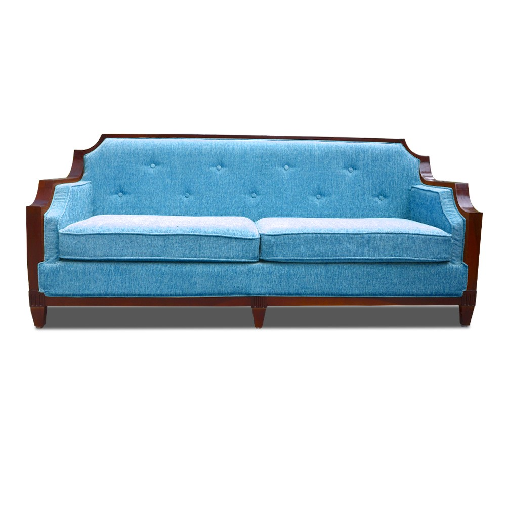 Rest Assured Three Seater Sofa Blue