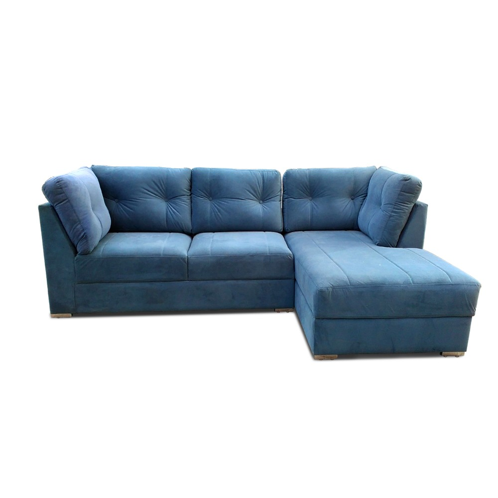 Houston Two Seater Sofa with Chaise Blue