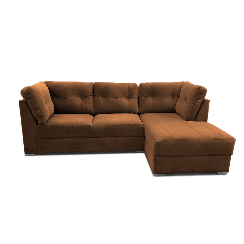 Houston Two Seater Sofa with Chaise Brown