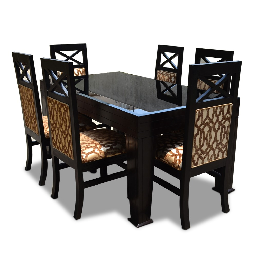 Dining Table Seats 6: La Rosa Six Seater Dining Table Set