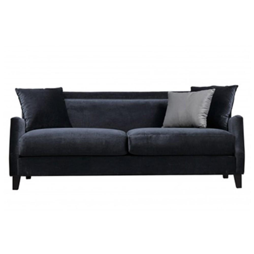 Kiev Three Seater Sofa Black