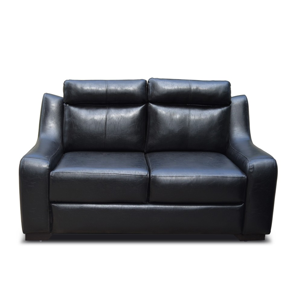 Garcia Two Seater SofaBlack leatherette