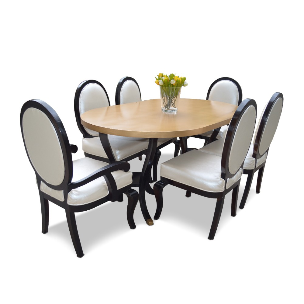rochester 6 seater dining table set dining tables sets dining. Black Bedroom Furniture Sets. Home Design Ideas